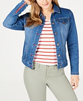 a04749b690bc Charter Club Frisco Zip-Cuff Denim Jacket