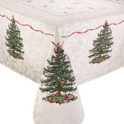 """Christmas Tree Tablecloth, 60"""" x 84"""""""