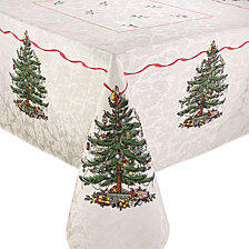 "Spode Christmas Tree Tablecloth, 60"" x 84"""