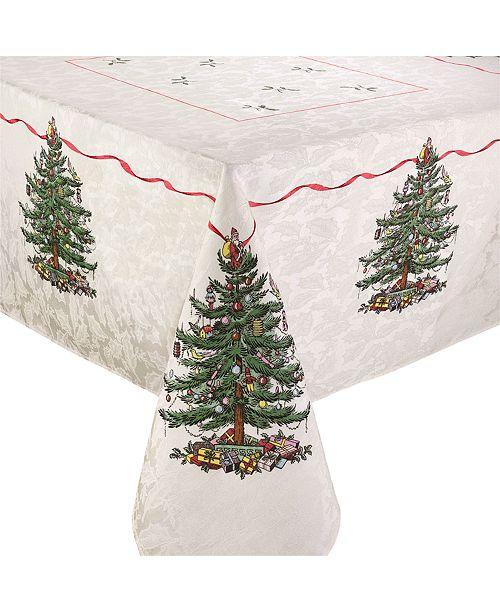 """Spode Christmas Tree Tablecloth, 60"""" x 84"""""""