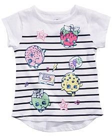 Shopkins Little Girls Striped Graphic-Print T-Shirt