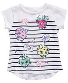 Shopkins Toddler Girls Striped Graphic-Print T-Shirt