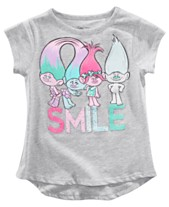 26204dea7 Trolls by DreamWorks Little Girls Smile T-Shirt