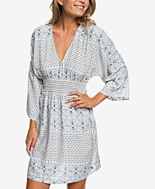 Roxy Juniors' Printed Kimono-Sleeve Dress