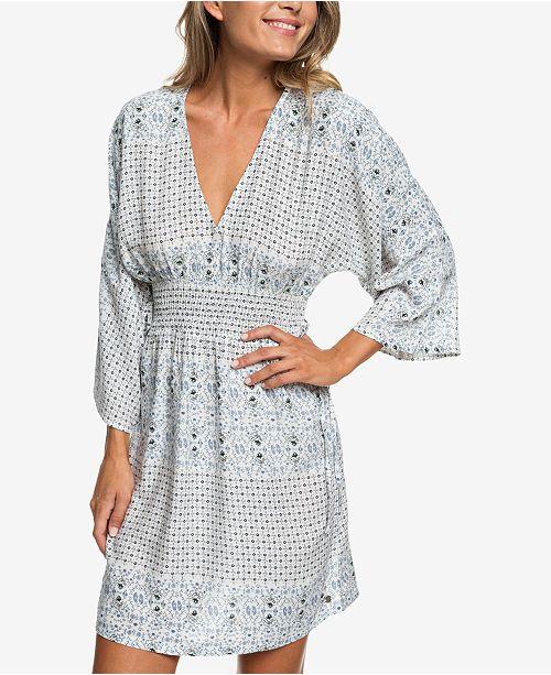 Roxy Juniors Printed Kimono Sleeve