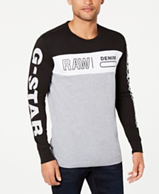 G-Star RAW Men's Colorblocked Long-Sleeve T-Shirt, Created for Macy's