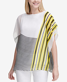 Calvin Klein Mixed-Stripe Kaftan Top