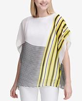 b63e61e312d44 Calvin Klein Mixed-Stripe Kaftan Top. Quickview. 2 colors