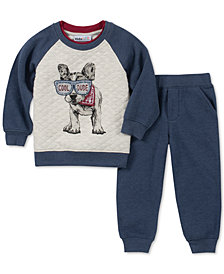 Kids Headquarters Toddler Boys 2-Pc. Quilted Top & Pants Set