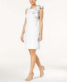 Calvin Klein Petite Ruffled Sheath Dress