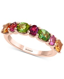 EFFY® Multicolor Tourmaline Ring (2-3/8 ct. t.w.) in 14k Rose Gold