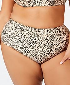Trendy Plus Size  Queen Mira Printed Bikini Bottoms