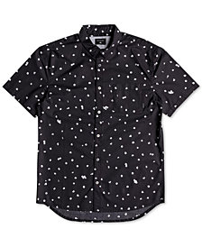 Quiksilver Men's Cherry Pop Modern-Fit Floral-Print Poplin Shirt
