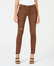 Kut from the Kloth Animal-Print Skinny Jeans