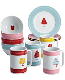 Cake Boss 12-Pc. Porcelain Mini Cakes Dessert Set, Service for 4