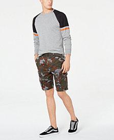 American Rag Island Camo Shorts & Varsity Raglan T-Shirt, Created for Macy's