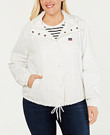 Levi's® Trendy Plus Size Active Rain Slicker Jacket