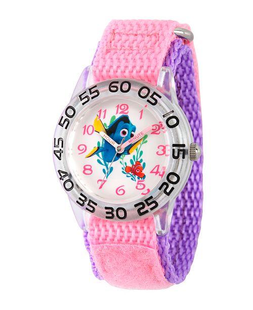 ewatchfactory Disney Finding Dory Nemo and Dory Girls' Plastic Time Teacher Watch