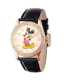 Disney Mickey Mouse Men's Gold Alloy Glitz Watch