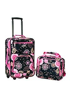 Rockland 2PCE Pucci Softside Luggage Set