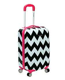 "Rockland Chevron 20"" Hardside Carry-On"