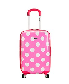 "Rockland Pink Dots 20"" Hardside Carry-On"