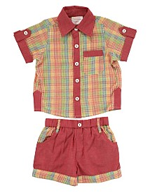Masala Baby Baby Boy's Ollie Two Piece Set