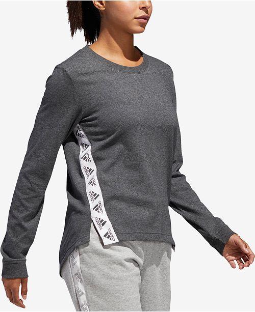 adidas Logo Long-Sleeve T-Shirt