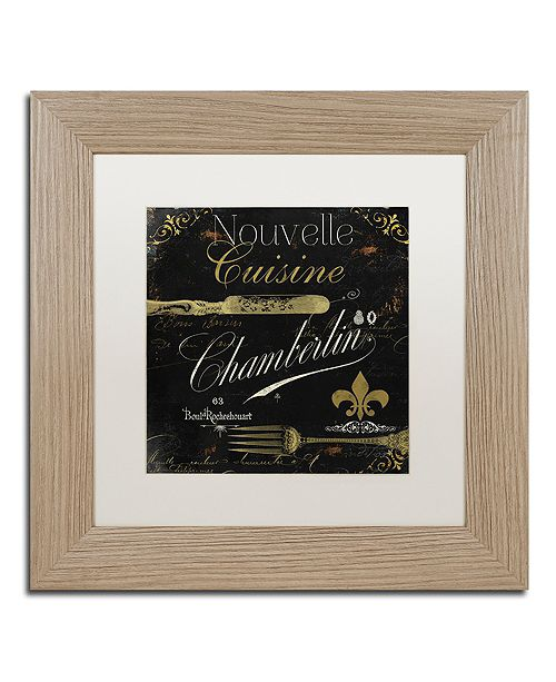 "Trademark Global Color Bakery 'La Cuisine Iv' Matted Framed Art, 11"" x 11"""