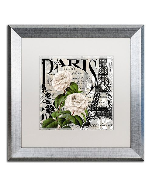 "Trademark Global Color Bakery 'Paris Blanc Ii' Matted Framed Art, 16"" x 16"""