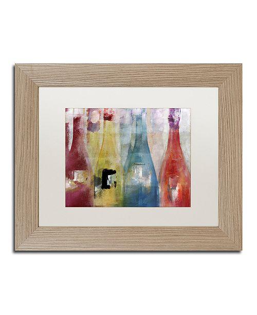 "Trademark Global Color Bakery 'Bouteilles Ii' Matted Framed Art, 11"" x 14"""