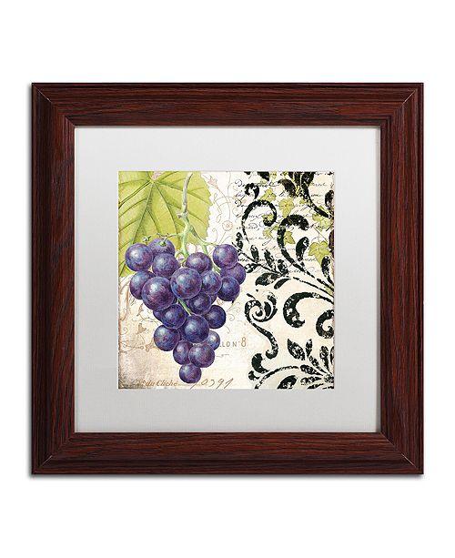 """Trademark Global Color Bakery 'Les Fruits Jardin Ii' Matted Framed Art, 11"""" x 11"""""""
