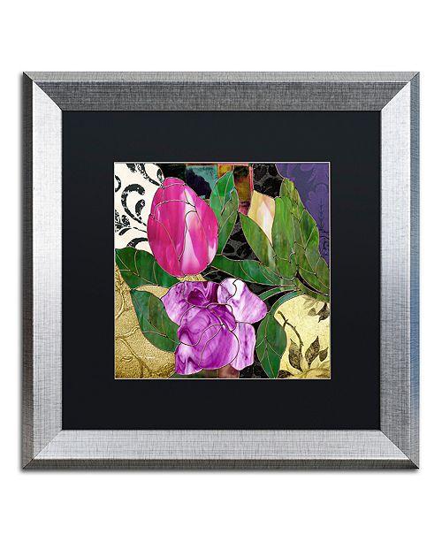 "Trademark Global Color Bakery 'Glassberry Iii' Matted Framed Art, 16"" x 16"""