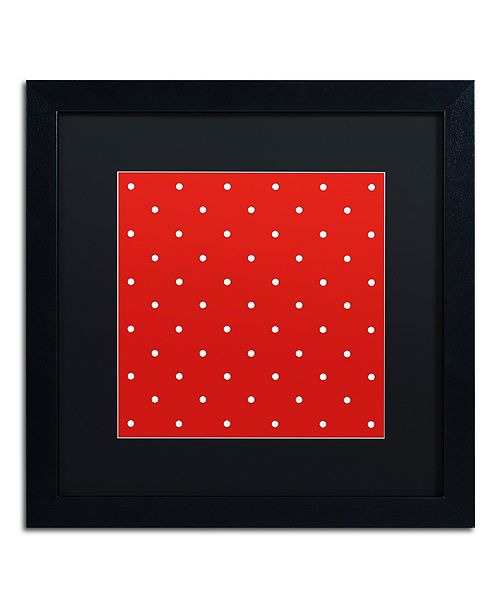 "Trademark Global Color Bakery 'Aria Iii' Matted Framed Art, 16"" x 16"""