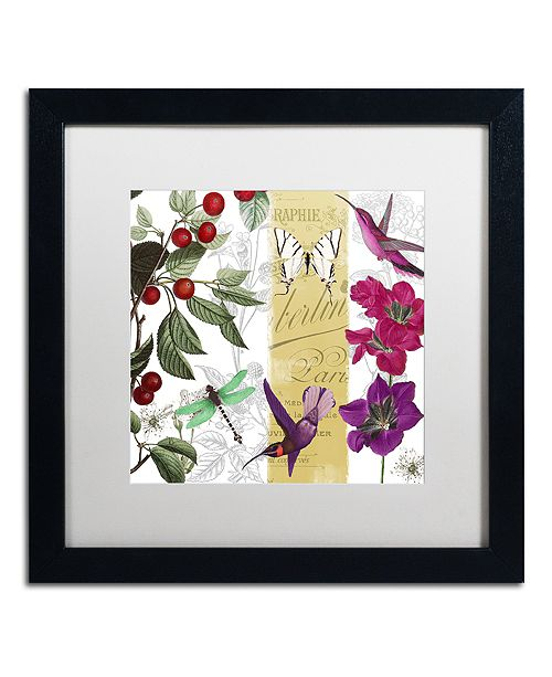 """Trademark Global Color Bakery 'Cherry Picked Ii' Matted Framed Art, 16"""" x 16"""""""