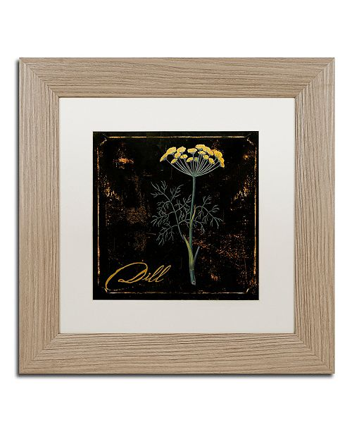 "Trademark Global Color Bakery 'Black Gold Herbs I' Matted Framed Art, 11"" x 11"""