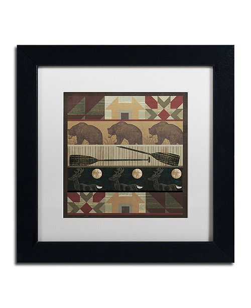 "Trademark Global Color Bakery 'Cabin Fever' Matted Framed Art, 11"" x 11"""