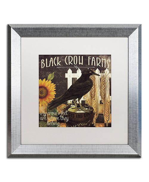 """Trademark Global Color Bakery 'Vermont Farms X' Matted Framed Art, 16"""" x 16"""""""