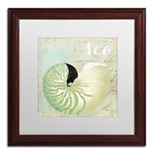 """Color Bakery 'Turquoise Beach I' Matted Framed Art, 16"""" x 16"""""""