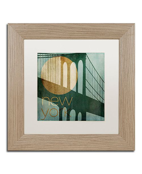 "Trademark Global Color Bakery 'New York' Matted Framed Art, 11"" x 11"""