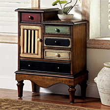 Vintage Style Accent Chest With 5 Drawers