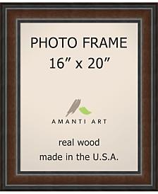 "Amanti Art Cyprus Walnut 16"" X 20"" Opening Wall Picture Photo Frame"