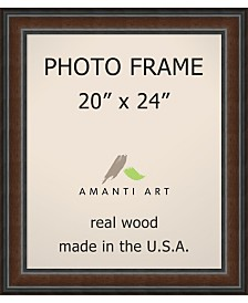 "Amanti Art Cyprus Walnut 20"" X 24"" Opening Wall Picture Photo Frame"