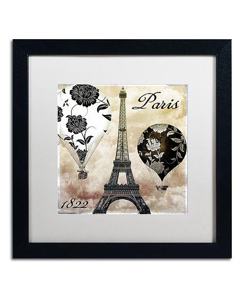 """Trademark Global Color Bakery 'Ceil Jaune I' Matted Framed Art, 16"""" x 16"""""""