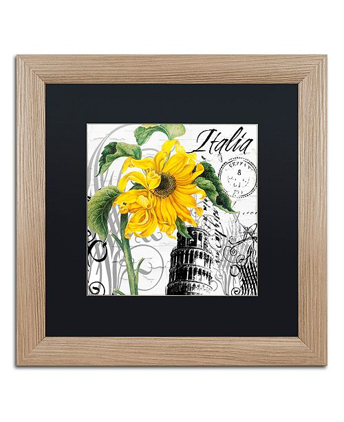 "Trademark Global Color Bakery 'Italia I' Matted Framed Art, 16"" x 16"""