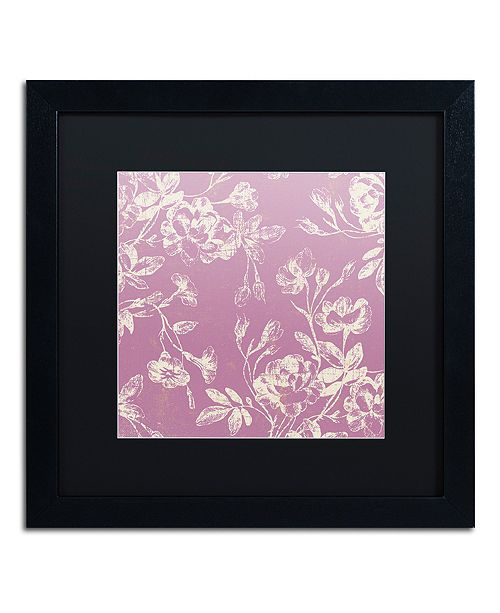 "Trademark Global Color Bakery 'Petals Of Paris Vi' Matted Framed Art, 16"" x 16"""