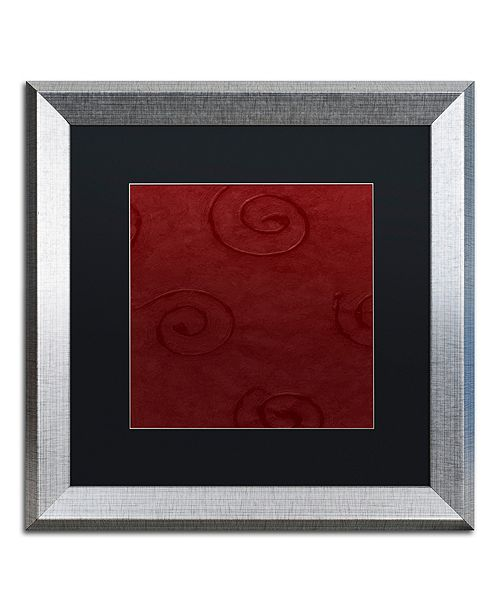 "Trademark Global Color Bakery 'Sweet Holiday Iv' Matted Framed Art, 16"" x 16"""