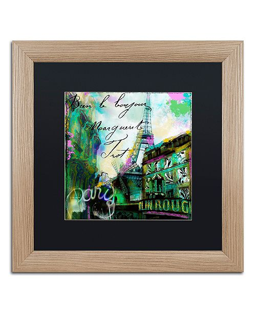 """Trademark Global Color Bakery 'To Paris With Love Ii' Matted Framed Art, 16"""" x 16"""""""