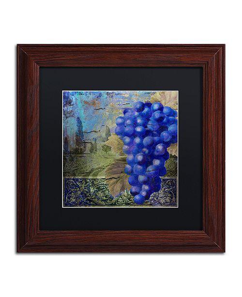 "Trademark Global Color Bakery 'Vino Blu One' Matted Framed Art, 11"" x 11"""