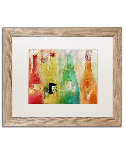 "Trademark Global Color Bakery 'Bouteilles' Matted Framed Art, 16"" x 20"""